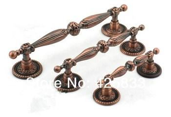 New 8pcs 128mm Red Bronze Modern Decorative Handles Knobs Antique Kitchen Armoire Hardware Granite Drawer Pulls Pulls Door