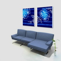 2Pc 50cm Huge Modern Abstract On Canvas Oil Painting Decorative Oilcolours Art  S-534A