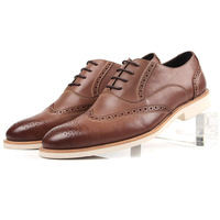 Hot-selling men's cowhide leather commercial casual shoes fashion shoes fashion breathable brockden carved men's
