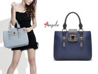 H1419 Elegant ANGELA Designer Brand High Quality GEM BLUE PU Handbag FREE SHIPPING DROP SHIPPING WHOLESALE