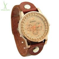 2014 Newest Arrival Vintage Top Layer Leather Strap Watch Analog Quartz   Women Men WristWatch PI0536
