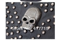 new punk bag Rivet skull one shoulder aslant punk chain with the bag fashion bag fre  shipping