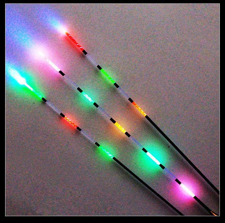 3Pcs Led Electronic Fishing Float + Battery Night Vision Electric Float Light Battery Fishing Tackle Luminous Electronic Float(China (Mainland))