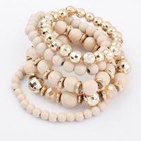 Min order is $10 Fashion accessories fashion multi-layer beaded elastic bead bracelet 5007