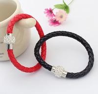 Min order is $10 Accessories popular brief bracelet fashion single-circle knitted bracelet sparkling rhinestone bracelet 8889