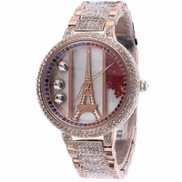 Davena multicolour crystal steel ladies watch fashion table