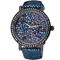 Davena fashion serpentine pattern mantianxing cuicanduomu lady rhinestone table fashion table strap watch