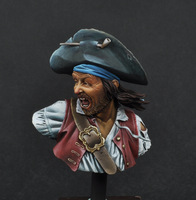 Min Order $ 40 USD (Mix in Grp 2) World War II Resin Action Figure  pirate picasso