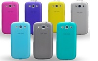 Free shipping! Galaxy S3 i9300 phone protective case  / 7 color for free choice!+Water/Dirt/Shock Proof+Transparent clore case
