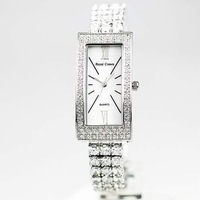 Royal crown watches ladies watch luxury rhinestone sheet women's watch