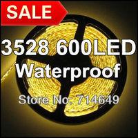 10m/lot, 3528 120LED/M 600LED Warm White Waterproof, 12V LED Flexible lighting strip, SMD 3528 silicon gel led strip, free ship