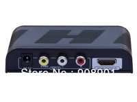 1pcs Free Shipping, New AV to HDMI Converter,CVBS and Audio(L/R) to HDMI with Scaler up to 720p or 1080P