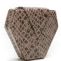 2013 rhombus women's crocodile skin handbag banquet red crocodile pattern small bags