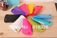 Free shipping 10pcs good quality shock proof simple smooth case Slim Waist Candy 10 colors cover case 30g/pcs for Iphone 5 5S