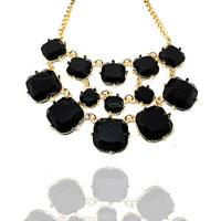Fashion fashion accessories female luxurious gem women's short design necklace gem necklace female gift