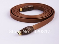 Free shipping by DHL+ Original Snake St. HDMI cable / HD cable V1.4 HDMI cable snake holy golden flat cable 2.43m 5Pcs/lot