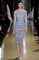 Vintage Blue Applique Floor-length Women's Evening Dress(EVEL-1011)
