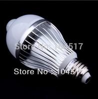 Bright Soft Motion Sensor Infrared PIR Light Bulb E27 85-260V 6W LED Lamp