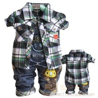 Free shipping children's clothing male child baby infant Europe Bib piece fitted clothes