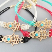 Min Order $18(Can Mix Item)Fashion hamsa hand evil eye bracelet handmade bangle lucky protection