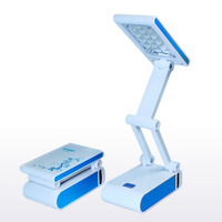 Foldable LED Desk Lamp Reading Lights Rechargable Portable Energy-saving lamps Book Lights Free shipping