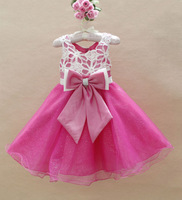 HOT SALE new fashion 2013 Roses Hollow-out Big Bowknot Gowns Prom evenng Dresses 6 pcs lot YA1001