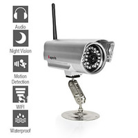 Free Shippping Original Apexis Mini IR Bullet IP Camera , Wireless , Waterproof , iPhone APP ,  Free DDNS For Remote Viewing
