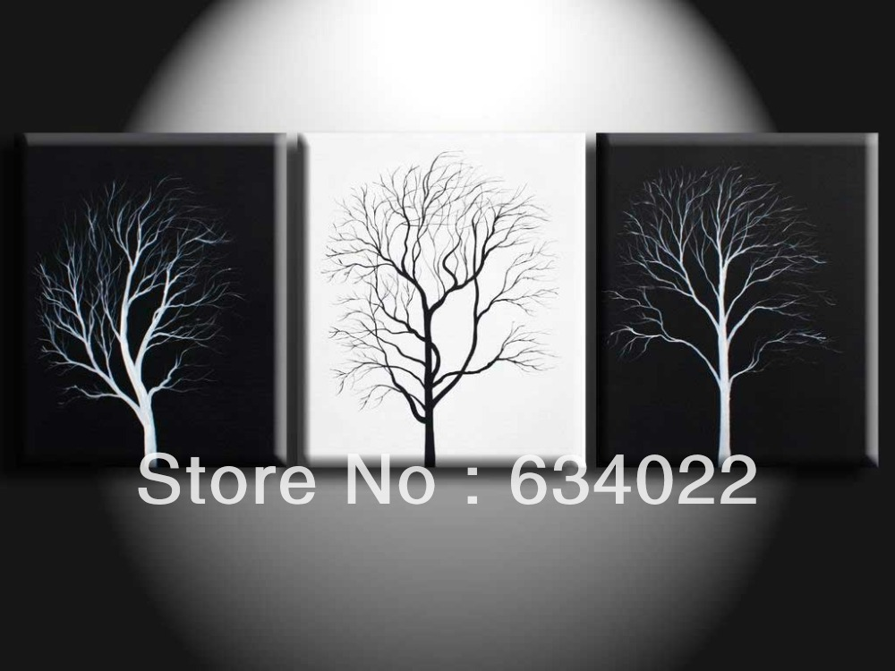 3 piece wall art modern abstract large cheap floral black. Black Bedroom Furniture Sets. Home Design Ideas