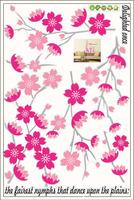 Beautiful Flower Design Wallpaper DIY WALL DECALS Stickers 60x90cm,free shipping