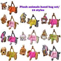 Free Shipping Brand New (5 pieces/lot) 2013 Fashion Children's Plush Soft Pet Animals Shaped Hand Bag Handbags 10 Styles