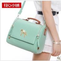 2013 vintage small horse messenger bag candy color one shoulder cross-body women's handbag bag