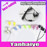 Free shipping candy in-ear 3.5MM Earphones  For iPod MP3 MP4 32GB CD Player PSP