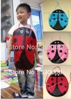 5 Colors Cute Ladybug Cartoon Kids Aprons Kitchen Garden Waterproof Fabric Craft Apron,Love Children Drawing Pinafore