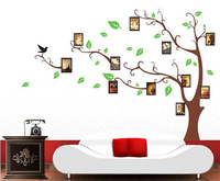 Memory pictures Tree Wallpaper DIY WALL DECALS Stickers Home Deco 60x90cm,free shipping