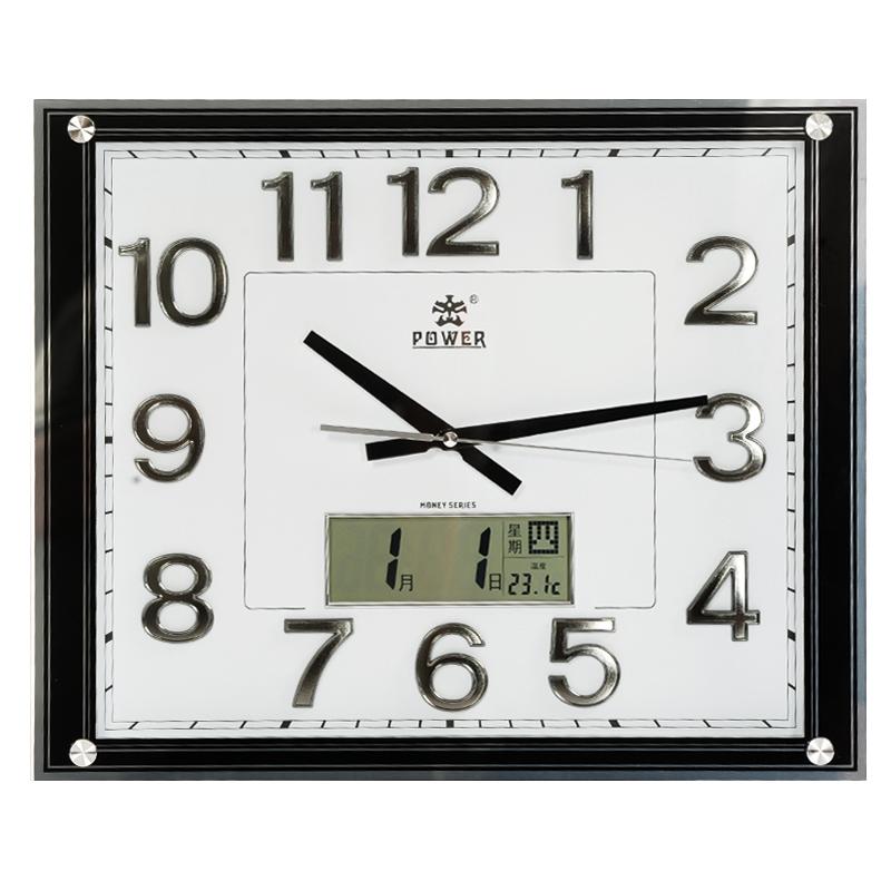Overlooks clock electronic wall clock calendar quartz clock chinese style fashion creative clock(China (Mainland))