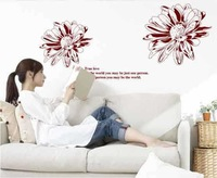 Free Shipping Wholesale--True Love Wall Sticker 100Sets/Lot The Decoration Of Home Wall Stickers Decor 120X85CM