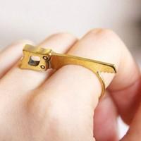 Hot fashion retro charming gold plated unique metal ring Free shipping 20pcs/lot