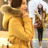 2013 winter thermal medium-long large fur collar wadded jacket cotton-padded jacket berber fleece cotton-padded jacket outerwear