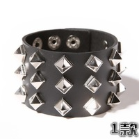 Denim bracelet accessories male rivet bracelet male punk bracelet cowhide bracelet