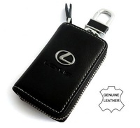 New Car Lexus Genuine Leather Car Key Holder Case Cover + Alloy Car Keychain