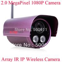 Onvif 2.0 Megapixel 1920x1080 1080P HD Array IR Waterproof Outdoor CCTV WIFI Network Wireless IP Camera