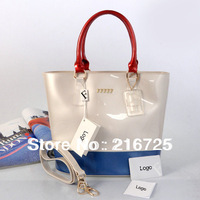 2013 free shipping fashion designer candy bag matching color candy bag with strap PVC candy tote