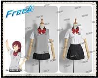 New Arrival Free! Iwatobi Swim Club Gou Matsuoka Girl School Summer Uniform Cosplay Costume Anime Character