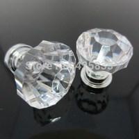 Hot 10pcs Acrylic Knobs Transparent Drawer Pulls Glass Luxury Jewelry Box Pulls Kitchen Parts