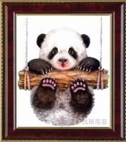 free shipping Dmc cross stitch kit hs-0118 14ct animal oil painting Panda