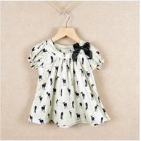 summer baby children brand animal deer dress dress clothing cute 6pcs/lot