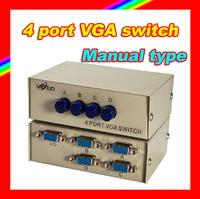 Brand new MAITUO MT-15-4C 4 ports VGA share switch 4 monitors share 1 PC host/4 PC hosts share 1 monitor not synchronous