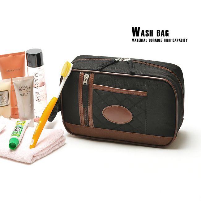 Casual man brief black dimond plaid large capacity portable wash bag travel bag men cosmetic bag(China (Mainland))