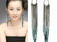 Jewelry accessories fashion big earrings tassel drop earring ultra long paragraph female vintage