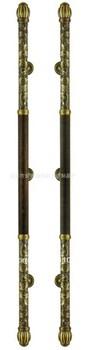 Free UPS (Length:1800mm) Senior Luxurious Shake Handshandle Antique Handle Green Bronze Red Bronze Glass Wooden Door Handle